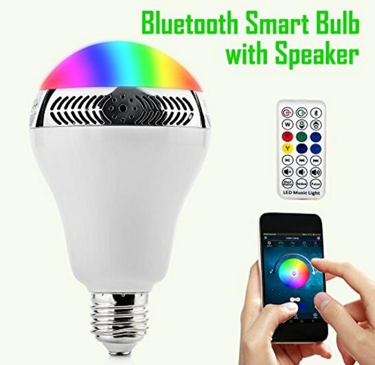 High Cost Performance! Bluetooth Smart LED Light Bulb Speaker Dimmable -Smartphone & IR Remote Controlled(China (Mainland))
