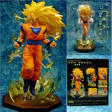 18cm PVC Anime Dragon Ball Z goku action figure Super Saiyan 3 son Goku god model figurine toy Kakarotto