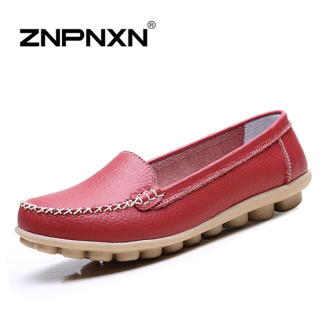 Женская обувь из натуральной кожи оксфорд туфли для женщин-квартир обувь женщина ...