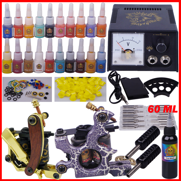 compete tattoo kit tattoo permanent makeup pen machine professional piercing set YLT-79(China (Mainland))
