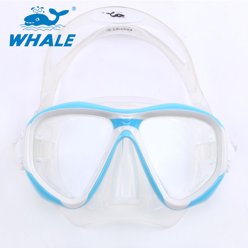 Whale Brand High-Quality Diving Mask Silicone Gear Scuba Equipment Snorkel Waterproof Swim/Dive Glasses Men Women Sport(China (Mainland))