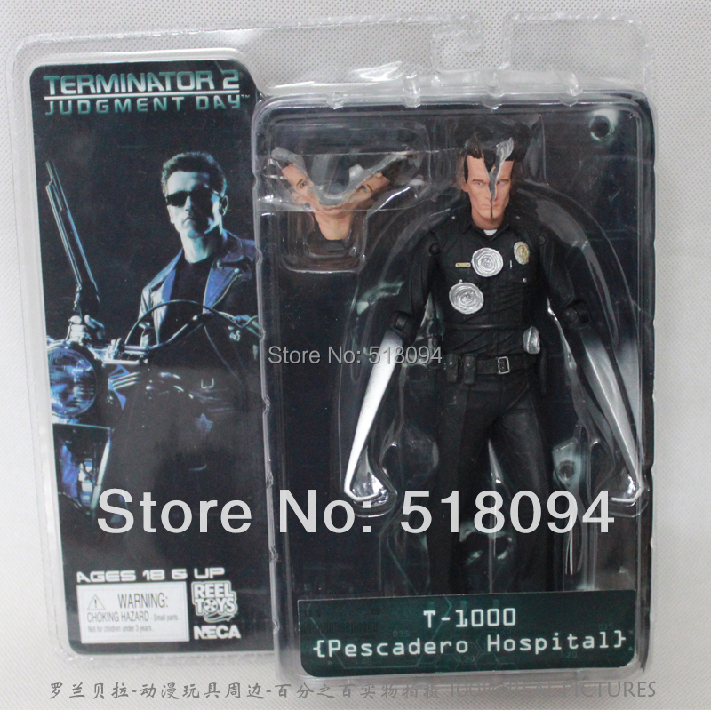 "Гаджет  Free Shipping NECA The Terminator 2 Action Figure T-1000 Pescadero Hospital Figure Toy 7""18cm MVFG038 None Игрушки и Хобби"