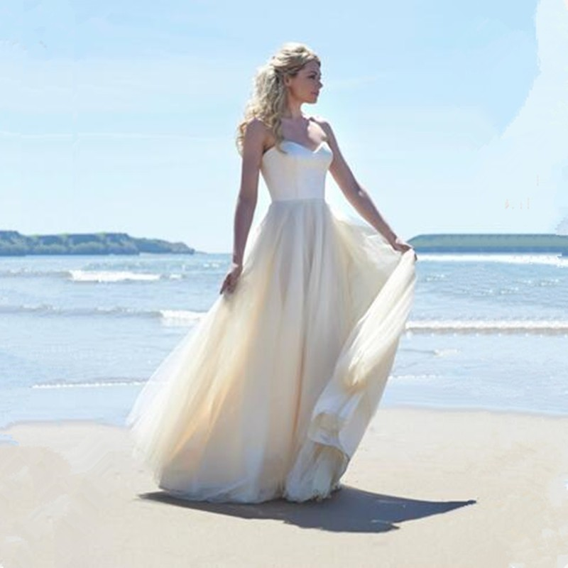 2016 Vestido De Novia Sexy Chiffon Beach Wedding Dress