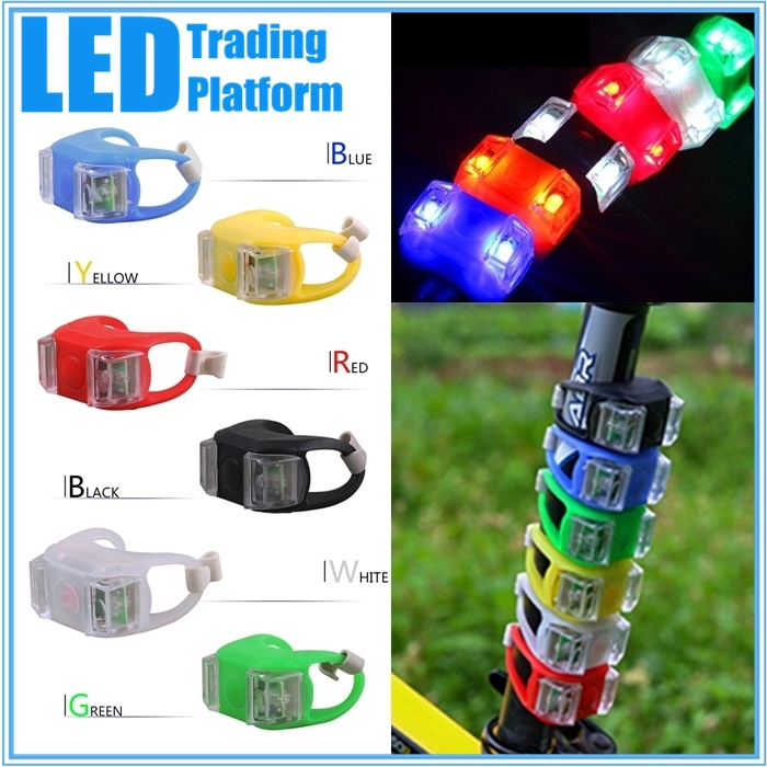 6 Color New LED Bicycle Light Front Rear Wheel The sixth generation Lights Safety Bike Light Lamp A4014(China (Mainland))