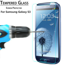 Explosion Proof Premium Tempered Glass Screen Protector Film for Samsung Galaxy S3 I9300 SIII S III 3 Round Border 2.5D Shatter(China (Mainland))