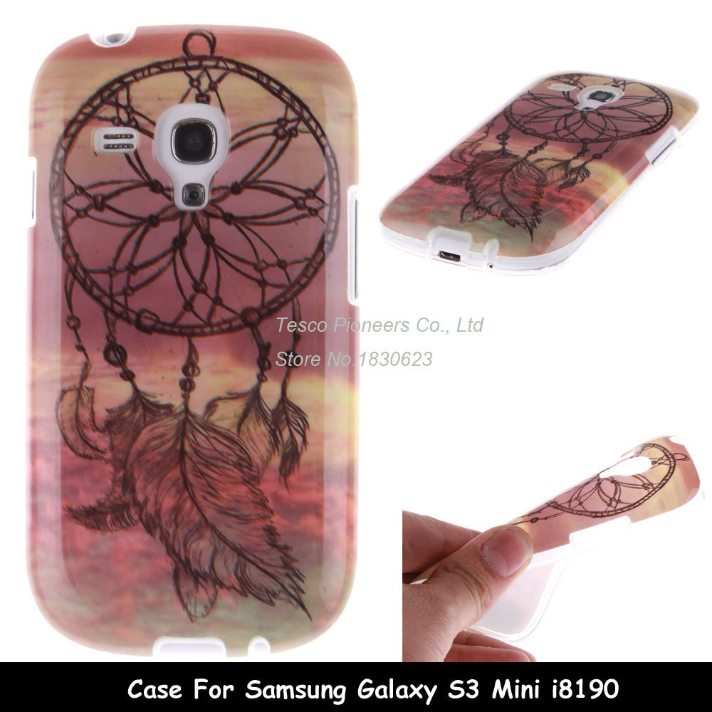 Hot Marketing Hot Fashion Design Dreamcatcher Soft TPU Back Case Cover For Samsung Galaxy S3 Mini I8190 Free Shipping(China (Mainland))
