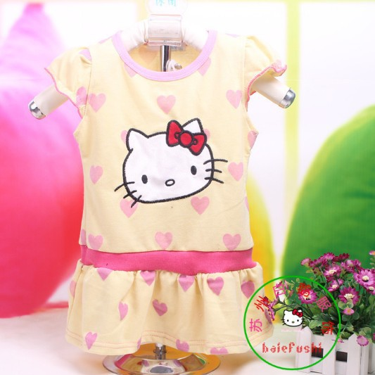 Free shipping new summer 2015 Hot sale explosion models Cute little princess Children dress 3 color Factory cheap wholesale(China (Mainland))