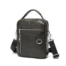 Fashion Men's Bag 100% Genuine Leather Men Messenger Bags Two Size Dark Coffee CrossBody Cow Leather Men Shoulder Bags #VP-L9023
