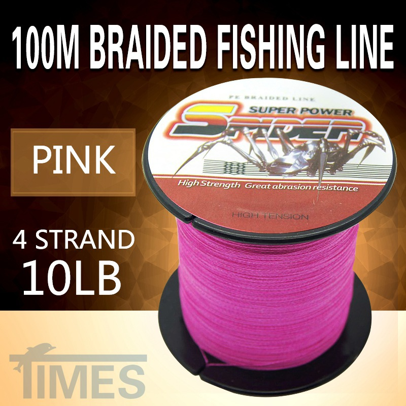 Self brand spectra pink 100m 10lb 4 strand braided fishing for Pink braided fishing line