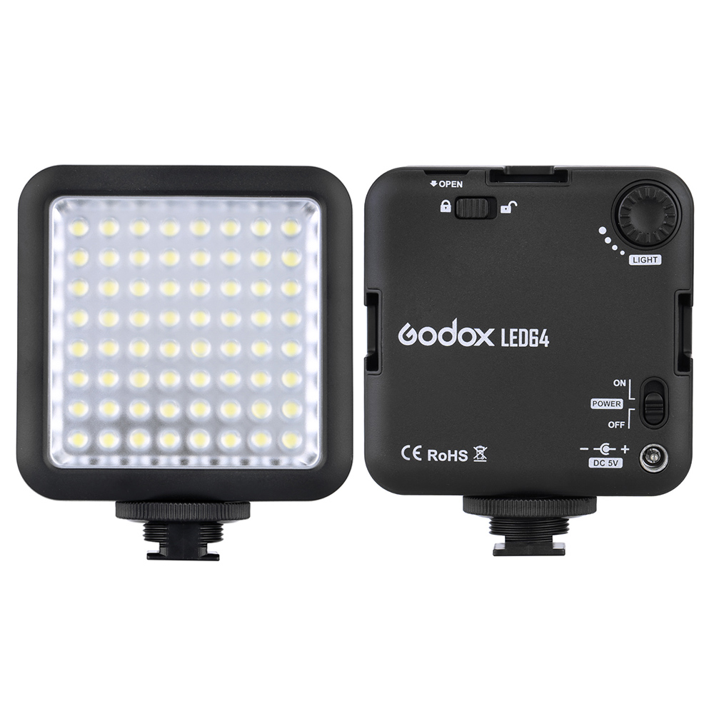 Godox LED64 LED Video LED Lamp for DSLR Camera Camcorder mini DVR as Fill Light for Wedding News Interview Macro photography(China (Mainland))