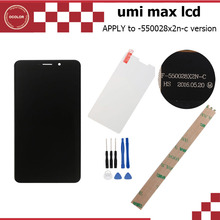 Umi Max LCD+Touch Screen and Tempered Glass Film Assembly perfect replacement Original for Umi Max 5.5 Inch Umi Max Accessories(China (Mainland))