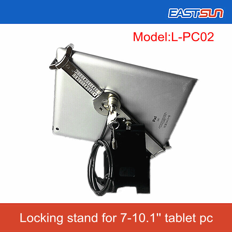 """Exclusive!!!Universal 360 degree rotate adjustable security display stand with lock cable for 7-10"""" tablet PC(China (Mainland))"""