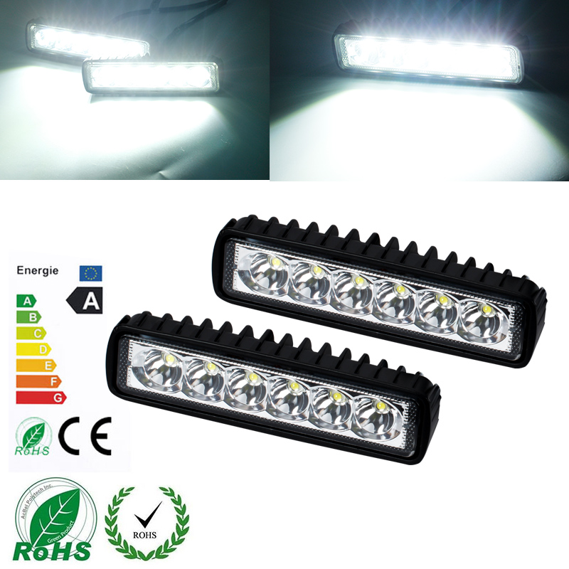 KEEN high power offroad 18W led worklight 12V waterproof 6pcs*3W light bar with aluminum shell for all cars Motorcycle SUV ATV(China (Mainland))