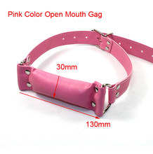 Buy Women Pink Strip Leather Open Mouth Gag Oral Fixation Mouth Gaged Sex Bondage Restraints Fetish Slave Gag Erotic Toy for $6.57 in AliExpress store