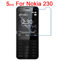 5pcs High Clear Screen Protector Film For Nokia 230 Ultra Thin Protective Film With cloth(China (Mainland))