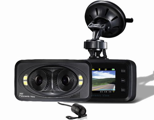 H6000 CAR DVR 360 Panoramic View Car Black Box DVR with 2 7 inch TFT HD
