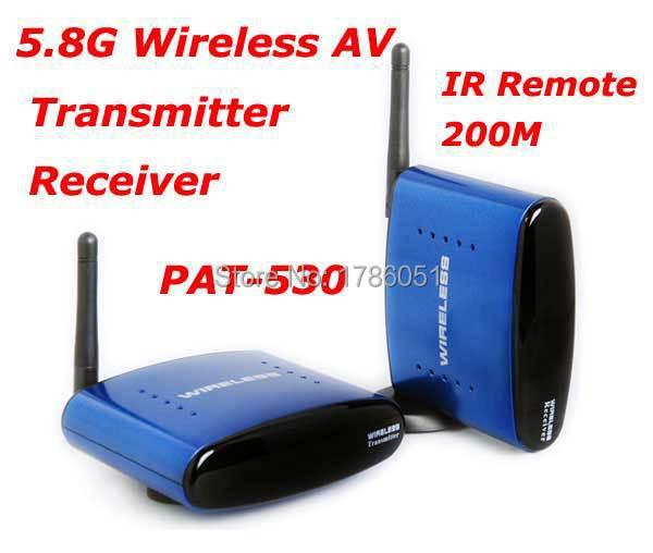 Hot sale PAT-530 5.8G Wireless AV TV Audio Video Sender Transmitter Receiver IR Remote for IPTV DVD STB DVR free shipping Brazil(China (Mainland))