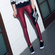 Free Shipping Autumn Winter Women Leather Pants 2015 Outer Wear Female Super Elastic Trousers Boots Pants(China (Mainland))