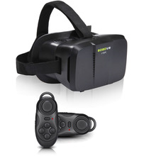 Virtual Reality 3D VR Glasses BOBO II Head Mount Oculus Rift DK2 Gear Headset for 4″~6″ Phone Black with Bluetooth Remote