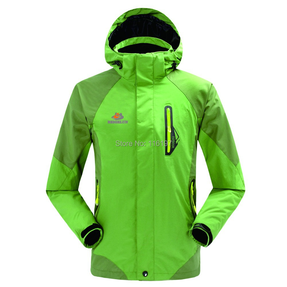 Dropshipping 2015 new arrival Brand Polar Hooded Outdoor Men Waterproof Climbing Jacket Size Mountain Clothes windbreaker men<br><br>Aliexpress