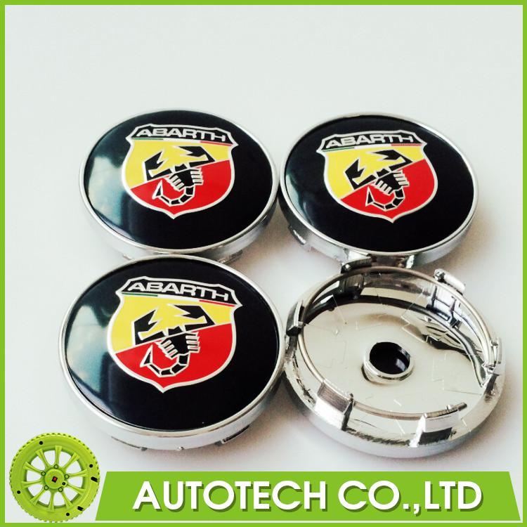 4pcs 60mm Abarth logo car Wheel Center Hub Cap Wheel Badge emblem covers for FIAT 124 125 125 500 695 OT2000 Coupe(China (Mainland))