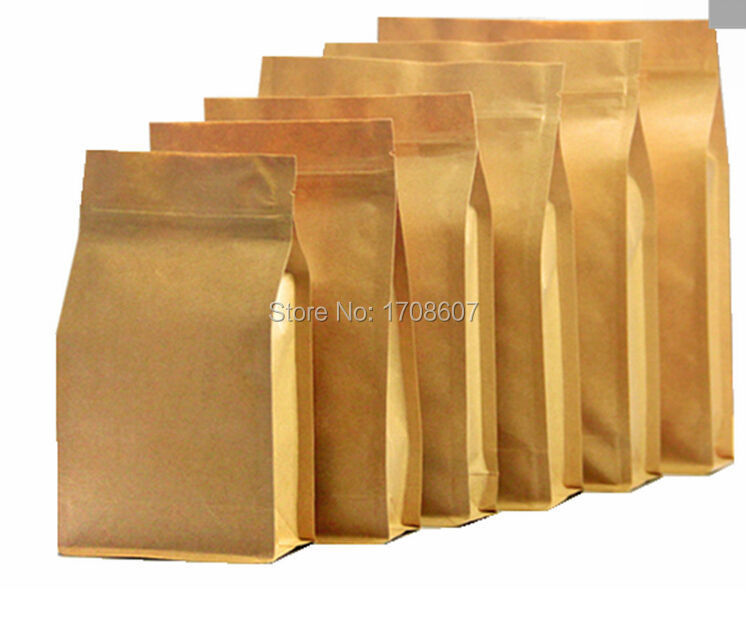 18*28cm large kraft paper food packaging stand up ziplock pouches bag(China (Mainland))