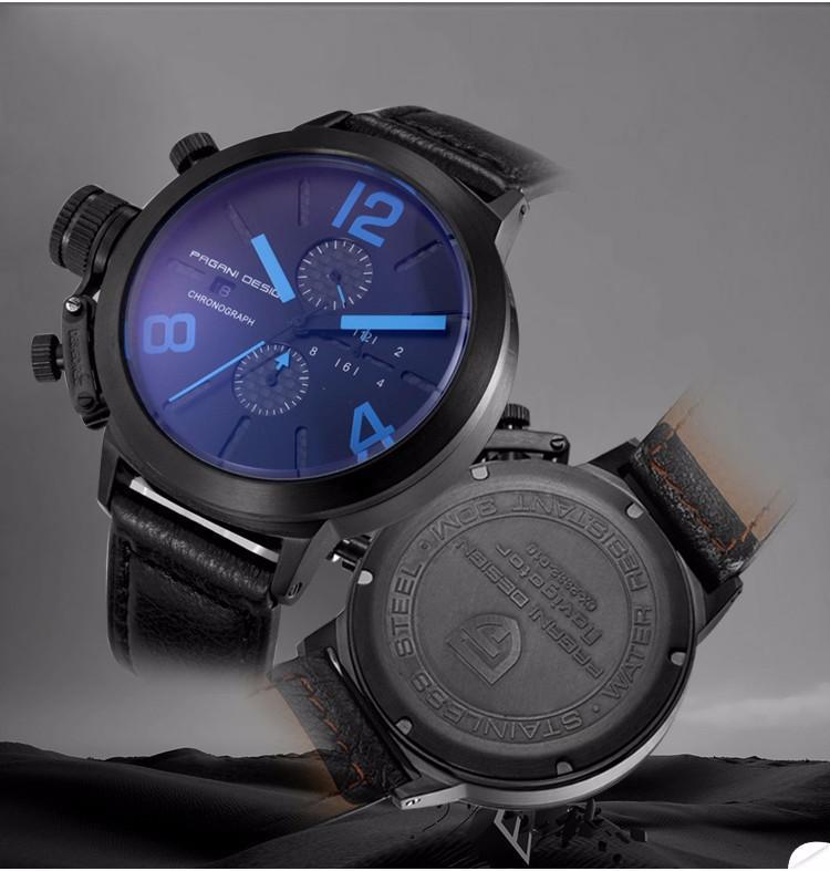 Уникальный И Инновационный Дизайн Мужчины Военные Часы Люксовый Бренд Многофункциональный Кварцевые Часы Relogio Masculino Pagani Дизайн 2332