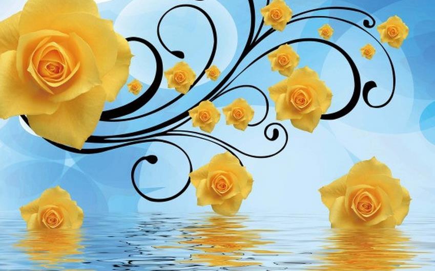 3D-Wallpaper-TV-Background-Wallpaper-The-Living-Room-Sofa-Backdrop-Mural-Rose-Water-3D-Flower-Wallpaper
