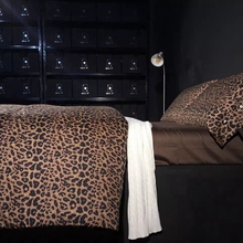 60S egyptian cotton bedding sets elegant bedding set 100% cotton bed high quality bed sheets leopard print comforter set(China (Mainland))