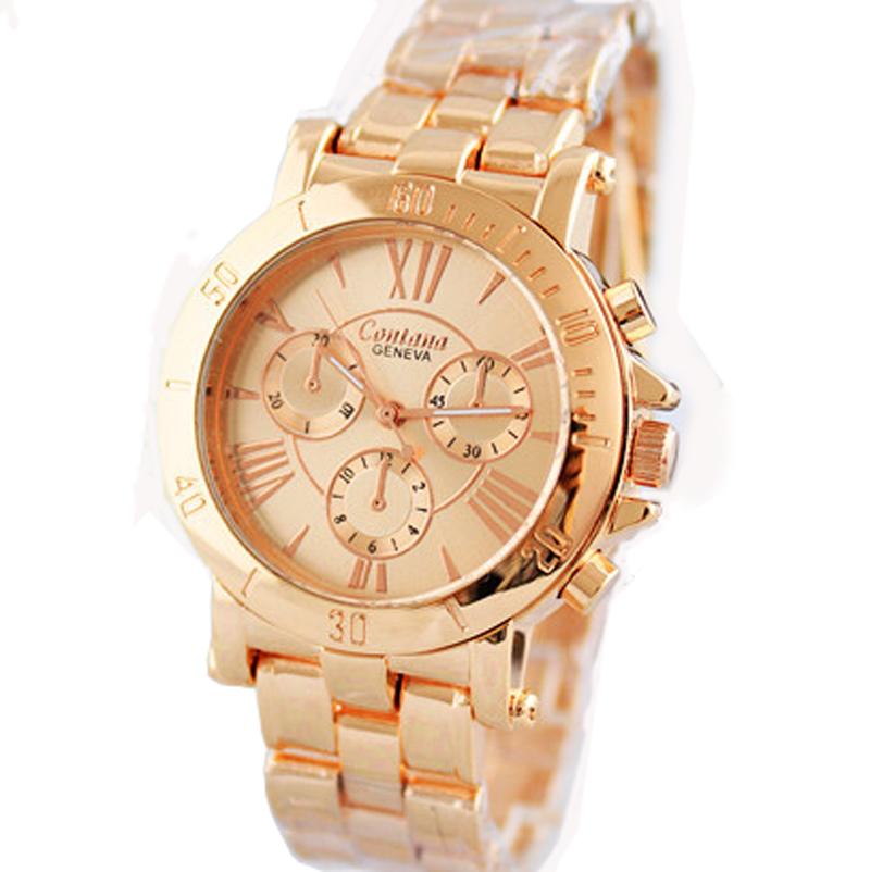 New Fashion GENEVA Brand Watches Women Stainless Steel Quartz Watch Women Luxury Wristwatch Women's Watch relogio masculino