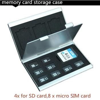 Новый алюминиевые микро-кольца для MMC TF памяти коробка для хранения Protecter чехол 4x для SD карты, 8 x микро-sim-карты