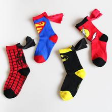 3-6T Sport Brand The Avengers Kid Socks Fashion Spiderman Superman Design Children's Meias Masculinas Football Basketball Socks(China (Mainland))