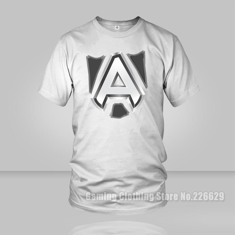 DOTA2 Alliance Game Team Mens t shirts cotton o neck summer style men DOTA 2 students TOP Tees camisetas T-Shirt(China (Mainland))