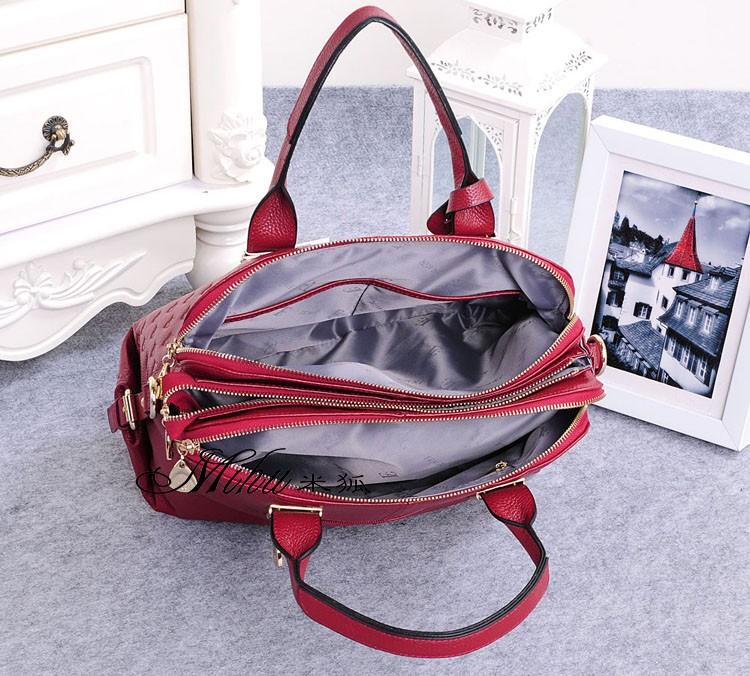 Genuine Leather handbag  large capcity bag 2016 new handbag Korean version of casual leather shoulder Messenger bag