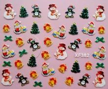 1 Sheet XF Christmas nail stickers nail stickers nail stickers 3D nail stickers French one from the grant XF382-XF6070