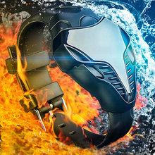 New Hot Sale LED Watch Digital Fashion Cobra Men s Watches black white Silicone Iron Man