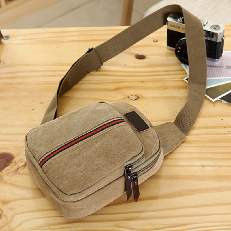 Men Chest Bags 3 Colors Male Canvas Bag Good Quality for Outdoor Travel Sport Use Casual