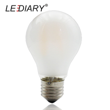 Buy LEDIARY Frosted Glass E27 LED Filament Bulb Flicker-Free 100-240V Edison Lamp IC Driver A60 E27 4/6/8W Warm White Bubble Ball for $3.39 in AliExpress store