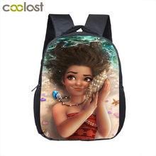 12 polegada dos desenhos animados bonito afro menina mochila crianças sacos de escola marrom beleza princesa crianças jardim de infância mochila do bebê da criança saco(China)