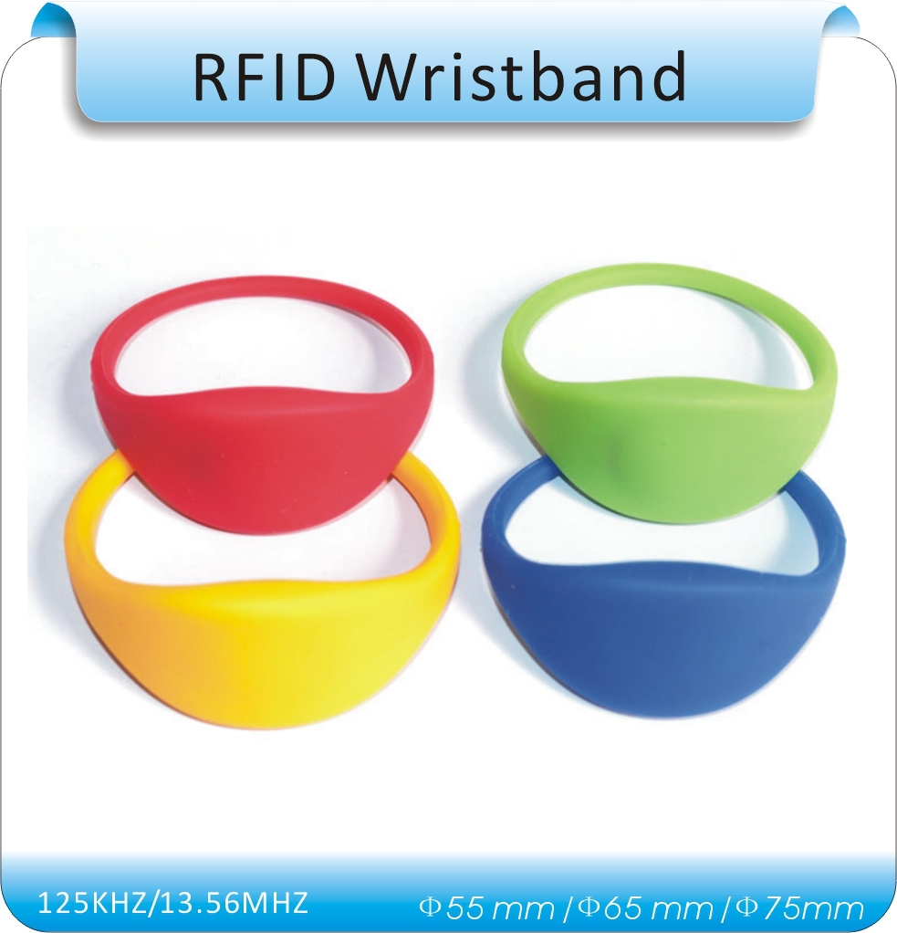 50pcs 7# RFID 125KHz Silicone waterproof RFID Wristband with TK4100(compatible EM4100) in Access Control()