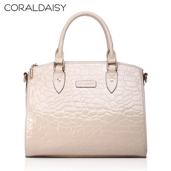 Coraldaisy  New  2013   Crocodile Grain Fashion Handbags  Satchel Women  Cowhide Handbag Women Messenger Bag  Woman