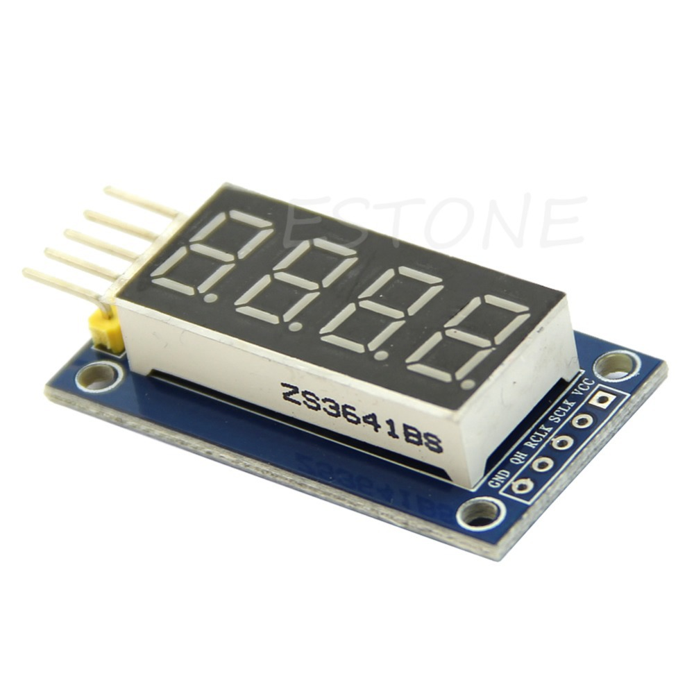J34 Free Shipping 4 Bits Digital Tube LED Display Module Four Serial for Arduino 595 Driver(China (Mainland))