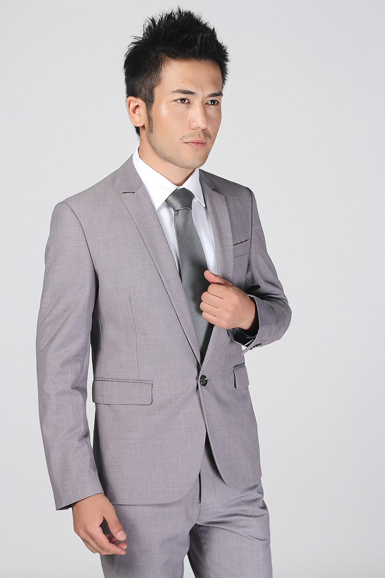 80-Free Shipping New 2015 man suit classic Fashion grooms man suits! Men's Blazer Business Slim Clothing Suit And Pants