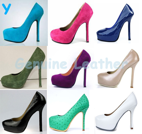 2013Fashion Bride Sexy Plue Size35-43 11 Womens Suede Genuine Leather 11cm 14cm Pumps High Heels Vintage Brand Shoes for Women<br><br>Aliexpress