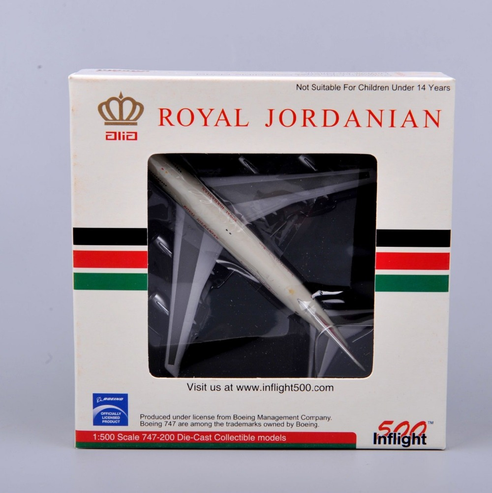 Inflight500 Boeing 747-200 ALIA JY-AFA Royal Jordanian 1/500 Alloy Diecast Airplane Model Collectible Kids Toys Birthday Gifts E(China (Mainland))