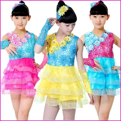 Children's show School uniform costume Boys and girls stage dance costume Children's chorus ballroom dance dress(China (Mainland))