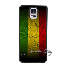Rasta Lion Weed Cover Case Samsung Galaxy S3 S4 S5 Mini S6 S7 edge Note 2 3 4 A3 A5 A7 2015 E5 E7 J1 J5 J7 2016 Phone Cases - CiCi Art store