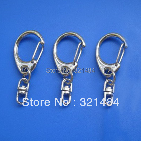 200pcs Dull silver plated 23mm Swivel lobster claw clasps hooks with 16mm Link keychain findings<br><br>Aliexpress