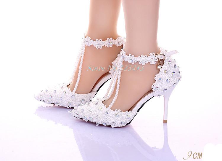 Flower lace rhinestone bridal shoes ultra high heels platform formal dress shoes ultra thin heels high heels female sandals