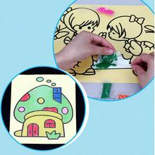 HOT Sand Painting Pictures Kid DIY Crafts Education Toy 16*12cm Pattern Learning & Education Classic Drawing Toys(China (Mainland))